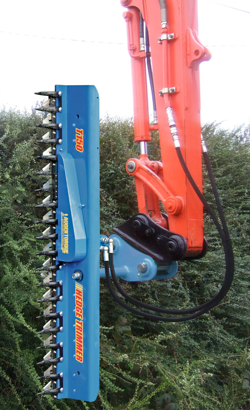 Hedge cutters - Excavator attachments for hedge trimming - DIGBITS
